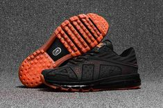 newest collection 992c7 13552 Cheap Men Nike Air Max Flair 2017 KPU Running Shoes Sneakers Carbide Orange  942236 906 For Sale . The Nike Air Max Flair puts a modern spin on the  iconic ...
