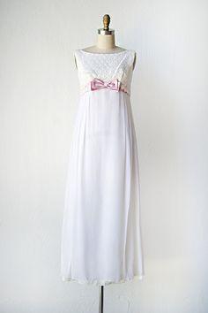 vintage 1960s maxi dress with bow   Nutcracker Suite Dress