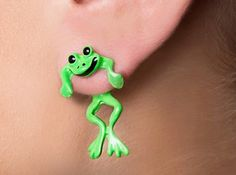 FROGS FRONT AND BACK STUD EARRINGS on Chiq http://www.chiq.com/frogs-front-and-back-stud-earrings