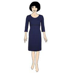 IBOLYA   Basic spandex blauw zwart