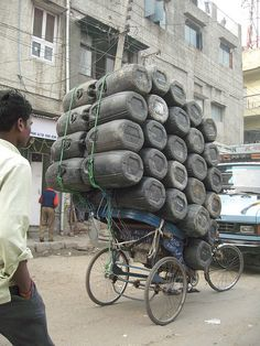 fully loaded bicycle by Luren J, via Flickr