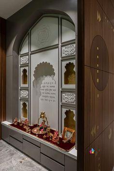 Pooja Room Door Design, Home Room Design, Foyer Design, Decoration For Ganpati, Ganapati Decoration, Round Dining Room Sets, Temple Design For Home, Contemporary Apartment, Contemporary Houses