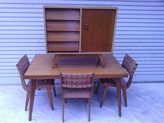 Douglas Snelling Dinning Set inc Sideboard 3pc, ORIGINAL ,retro parker eames era