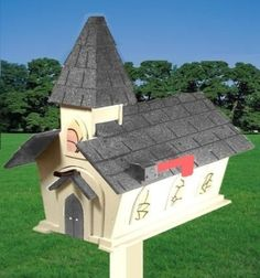 CHURCH chapel unique mailbox