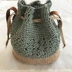 """New Cheap Bags. The location where building and construction meets style, beaded crochet is the act of using beads to decorate crocheted products. """"Crochet"""" is derived fro Boho Crochet, Crochet Tote, Crochet Shoes, Crochet Handbags, Hand Crochet, Free Crochet, Crochet Drawstring Bag, Bracelet Crochet, Crochet Backpack"""