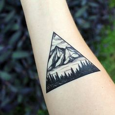 Mountains & Forest Temporary Tattoo by NatureTats!
