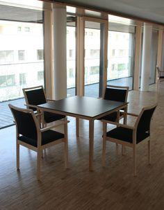 tables for a retirement home tische von wittmann fur eine seniorenresidenz