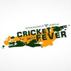 Cricket Fever Background Free Vector - https://vecree.com/6056935/cricket-fever-background-free-vector/