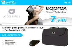 Oferta Ratón óptico USB + Maletín Aqprox