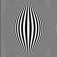 Op Art - also known as optical art tricked the eye in visual distortions and illusions through shapes and patterns