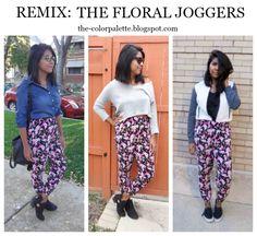 Remix: Floral Joggers The color palette a lifestyle, fashion & beauty blog