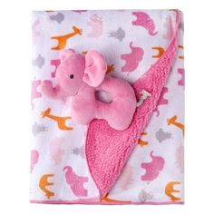 Just One You Made by Carter's® Pink 2 Ply Blanket With Elephant Rattle for sale online Baby Doll Nursery, Giraffe Nursery, Baby Girl Dolls, My Baby Girl, Baby Room, Baby Shower Gifts, Baby Gifts, Carters Baby Boys, Toddler Girls