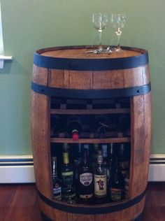 Bourbon/beer barrel bar