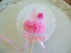 Ballerina Tutu Cupcake Toppers on Etsy for $10.00 for six.