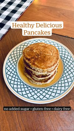 Dairy Free Pancakes, Tasty Pancakes, Dairy Free Recipes, Healthy Recipes, Yummy Pancake Recipe, Low Sugar Diet, Sweet Breakfast, Deserts, Easy Meals