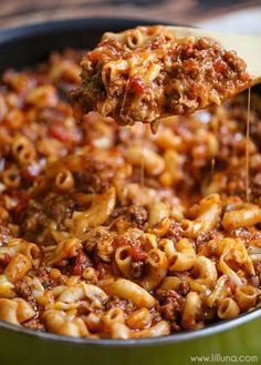 Cheesy Beef Ghoulash - a delicious, hearty and cheesy dinner recipe the entire family will love. via @kristynm