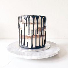 Coffee flavoured drip cake