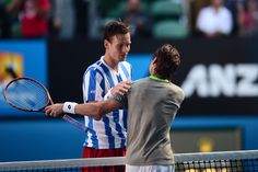 Tomas Berdych and David Ferrer, 2014 Australian Open