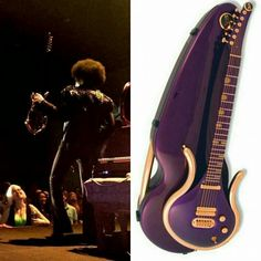 Prince with his new guitar