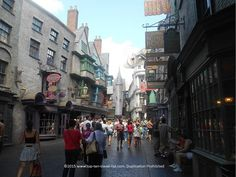 Looking down Diagon Alley at #Universal Studios Orlando #HarryPotter