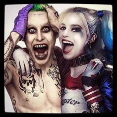 Jared Leto and Harley Quinn -suicide squad