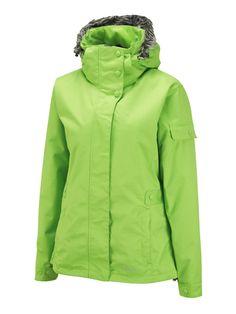 Steeze Womens Snowboarding Jacket Recycled Citrus Green - Surfanic Australia