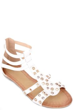 Womens Ladies White Diamante Flat Strappy Gladiator Shoes Sandals Size UK 6 New  | eBay  Click On Link To Visit My Ebay Shop http://stores.ebay.co.uk/all-about-feet  Useful Info: - Standard Size - Standard Fit - By Forever Folie - White In Colour - Flat Heel - Diamante And Stud Detail To Front - Back Zip Fastening - Synthetic Leather Upper #sandals #sandal #white #flat #strappy #gladiators #diamante #studded #fashion #footwear #forsale # womens #ladies #ebay #ebayseller #ebayshop #ebaystore