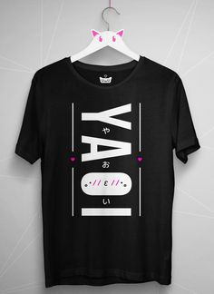 [custom_html] やおい / YAOI Wear this t-shirt proudly to show your love for yaoi! It's a modern unisex tee which fits really nice. - US size (click to view size chart) - Direct-to-garment print (washing