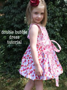 sew easy being green: Is That Another Bubble Dress? A tutorial    I wish I knew how to sew!!!!