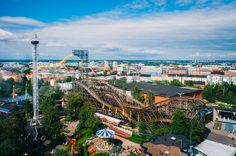 Linnanmäki Roller Coaster: The wooden one is now 63 years old and very much a part of the Helsinki summer for young and old alike.