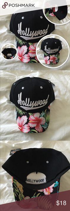8f58e27616 💋I LOVE BUNDLE OFFERS💋💯 Adjustable woman s baseball cap with floral brim  adorned with one of Cali s most popular logos.