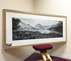 Standing Strong. Buttermere. 90cm print in Oak