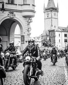 The Distinguished Gentleman's Ride framed by the picturesque city of Prague. Photo credit - Matej Sahula #dgr2015 #ridedapper #dgrprague #jointhegentry #ootd #wtwt #gq #instyle #gentlemansride #dapper #fightprostatecancer #prostatecancer #caferacer #bobber #tracker #scrambler #classicmotorcycle #modernclassic #croig #caferacersofinstagram #caferacergram by gentlemansride