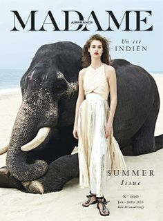 fashion editorials, shows, campaigns & more!: india song: anais pouliot by sonia sieff for madame air france june/july 2014 Air France, Fashion Cover, Madame, Emilio Pucci, Proenza Schouler, Colorful Fashion, Isabel Marant, Editorial Fashion, Fashion Photography