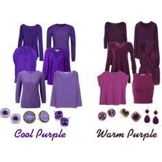 Cool and Warm Purple
