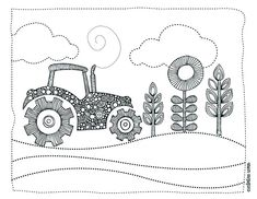 Free coloring pages- great for road/camping trips