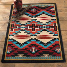 Head to Lone Star Western Decor now and browse through our fine variety of Southwest rugs, like this Rustic Cross Blue Southwestern Rug Collection! Southwest Rugs, Southwestern Home, Southwestern Decorating, Southwest Decor, Western Furniture, Rustic Furniture, Furniture Design, Motifs Aztèques, Native American Decor