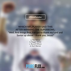 #TriviaTuesday - Which #NFL player said this? #football #WoodlawnMovie