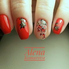 Here is a tutorial for an interesting Christmas nail art Silver glitter on a white background – a very elegant idea to welcome Christmas with style Decoration in a light garland for your Christmas nails Materials and tools needed: base… Continue Reading → Fall Nail Art, Autumn Nails, Winter Nails, Cute Spring Nails, Cute Nails, Pretty Nails, Nail Designs Spring, Nail Art Designs, Red Nails