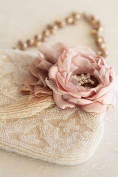 Elegant Blush Rose & Evening Bag