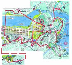 Trolleytours.com - Boston Old Town Trolley route map   USA ...