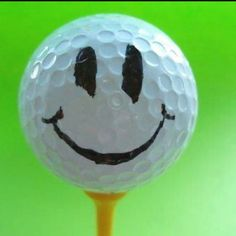 I'm going to do this to all my dad's golf balls and a I love you note with them :-) happy face..................