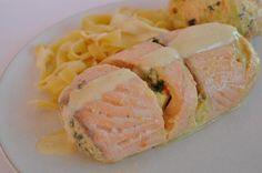 Paupiettes de saumon farcies aux légumes (cuisson vapeur) -