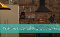 Mod The Sims - Kitchen Shelves: Pretty and Practical