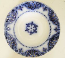 My great-grandmother's flow blue dish pattern from 1899, purchased at Strawbridge & Clothier's.