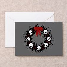 Gothic Christmas Wreath Greeting Card for