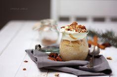 Rezept: Bratapfelkuchen im Glas - Weihnachtsmenü 2014. Ein leckeres und einfaches Rezept als Dessert nach dem Weihnachtsessen zu Weihnachten