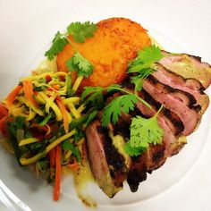 #MiamiSpice is HERE! For the months of August and September we'll be offering a special 3-course dinner menu for only $39, plus tax and gratuity! Come take advantage of this menu prepared by @chefaaronbrooks and his amazing culinary team! This specific dish is our jerk grilled duck breast, served with a green mango salad and sweet potatoes cooked in sweet coconut and savory spices! @fsmiami @miamiandbeaches #Value