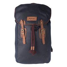 20cceea076 Barbour Wax Backpack - Navy Barbour Wax