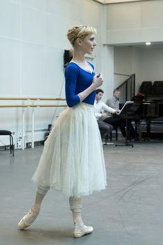 Sarah Lamb as Giselle in rehearsal for Giselle, The Royal Ballet © 2016 ROH. Photo by Andrej Uspenski